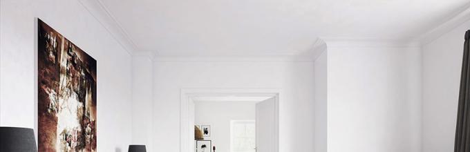 Porte interne bianche moderne all\'interno. Porte interne bianche all ...