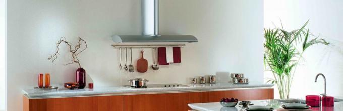 Cocina maciza sin muebles de pared. Diseño de cocina sin ...